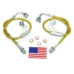 Suspension Components - Brake Lines - SuperLift - 91360 | Bullet Proof Brake Hoses | Front