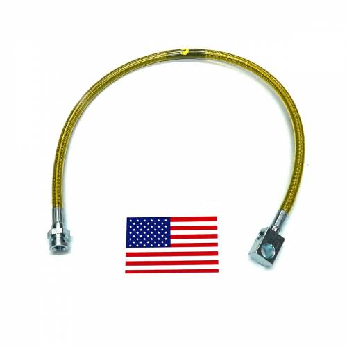 Suspension Components - Brake Lines - SuperLift - 91405 | Bullet Proof Brake Hoses | Rear