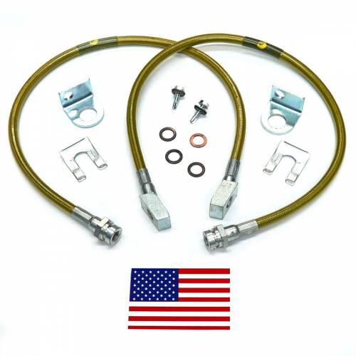 Suspension Components - Brake Lines - SuperLift - 91415 | Bullet Proof Brake Hoses | Front