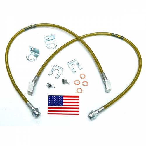 Suspension Components - Brake Lines - SuperLift - 91440 | Bullet Proof Brake Hoses | Front