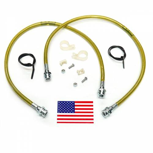 Suspension Components - Brake Lines - SuperLift - 91450 | Bullet Proof Brake Hoses | Front