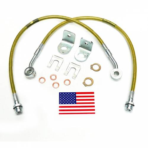 Suspension Components - Brake Lines - SuperLift - 91460 | | Bullet Proof Brake Hoses | Front