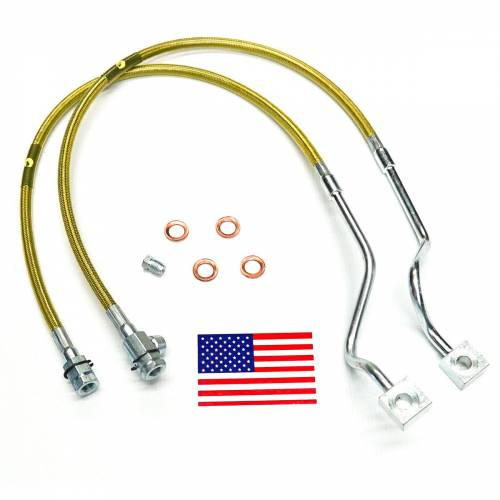 Suspension Components - Brake Lines - SuperLift - 91510 | | Bullet Proof Brake Hoses | Front