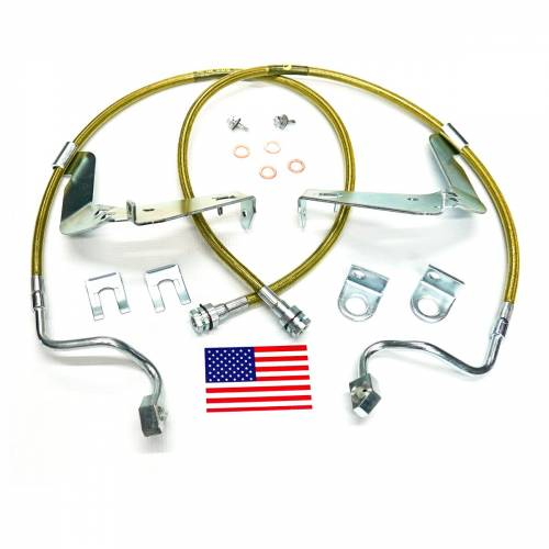 Suspension Components - Brake Lines - SuperLift - 91560 | | Bullet Proof Brake Hoses | Front