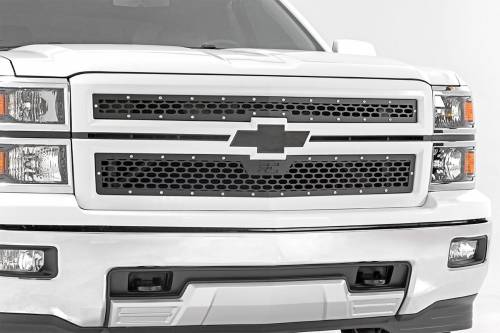 Exterior - Custom Grilles - Rough Country Suspension - 70101 | Chevrolet Mesh Grille