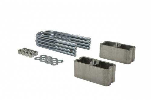 Suspension Components - Block & U Bolt Kits - Belltech Suspension - 6102 | 2 Inch Universal Tapered  Rear Lowering Block Kit