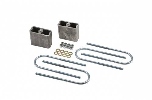 Suspension Components - Block & U Bolt Kits - Belltech Suspension - 6203 | 4 Inch Universal Rear Lowering Block Kit