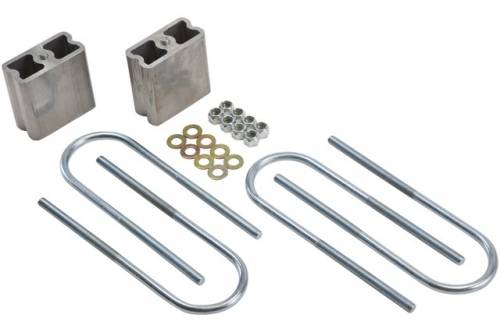 Suspension Components - Block & U Bolt Kits - Belltech Suspension - 6204 | 4 Inch GM Rear Lowering Block Kit