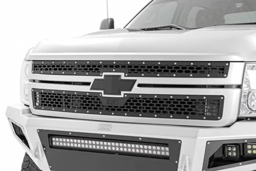 Exterior - Custom Grilles - Rough Country Suspension - 70153 | Chevrolet Mesh Grill