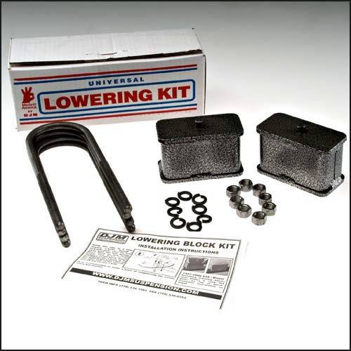 Suspension Components - Block & U Bolt Kits - DJM Suspension - SB3LK | 3 Inch Steel Lowering Block Kit