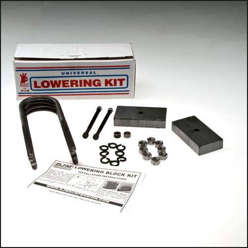 Suspension Components - Block & U Bolt Kits - DJM Suspension - SB1LK | 1 Inch Steel Lowering Block Kit