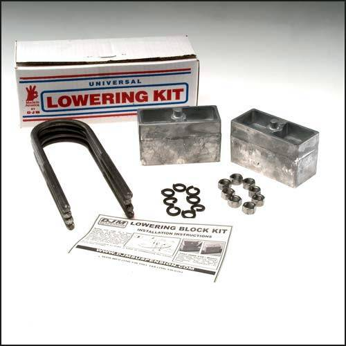Suspension Components - Block & U Bolt Kits - DJM Suspension - LB3LK | 3 Inch Aluminum Rear Block and U Bolt Kit