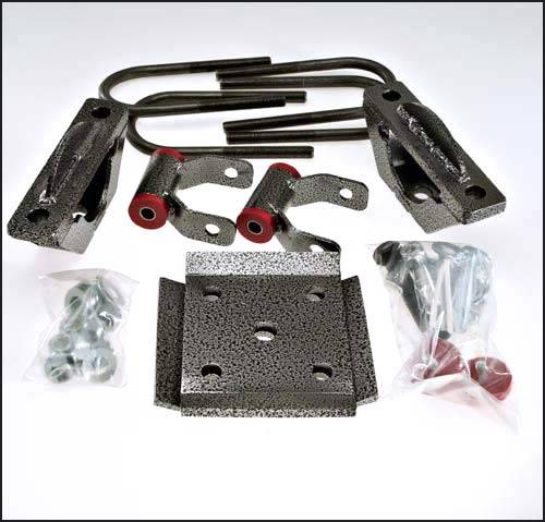 Suspension Components - Flip Kits, C-Notches - DJM Suspension - RK3215-6 | 6 Inch Ford Rear Lowering Kit