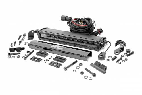 Jeep - WJ Grand Cherokee - Rough Country Suspension - 70712BL | 12 Inch Cree LED Light Bar - Single Row | Black Series