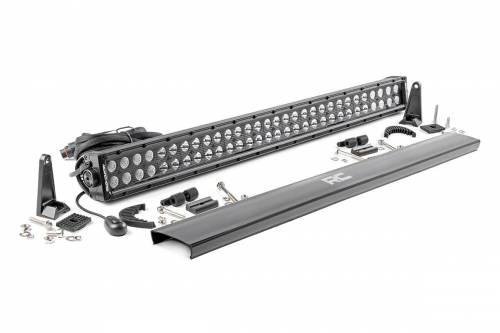 Jeep - ZJ Grand Cherokee - Rough Country Suspension - 70930BL | 30 Inch Cree LED Light Bar - Dual Row | Blacke Series