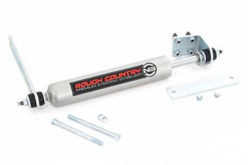 Suspension Components - Steering Stabilizers - Rough Country Suspension - 8734830   Ford Steering Stabilizer