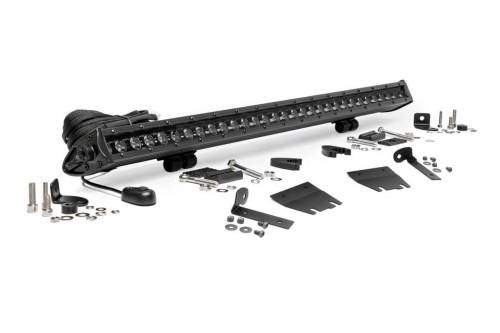 Lighting - LED & Off Road Lights - Rough Country Suspension - 70054 | Jeep 30 Inch LED Hood Kit | Black Series