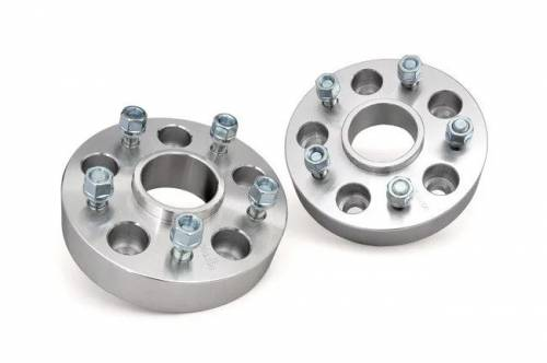 Wheels - Wheel Spacers - Rough Country Suspension - 10085 | Jeep 2 Inch Wheel Spacers | 5 X 5 Bolt Pattern