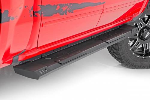 Exterior - Side Steps & Running Boards - Rough Country Suspension - SRB071777 | GM Cab Length HD2 Running Boards | Extended Cabs