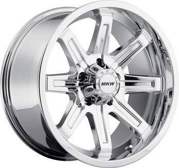 MKW Alloy - M88-18905127-10P | 18X9 MKW M88, 5X5 Chrome Finish (PVD) -10MM BS