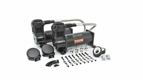 Parts & Pieces - Air Compressors - Air Lift Performance - 23444B | Viar 444C Dual Black Compressors |  200 Psi