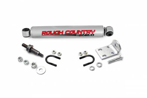 Suspension Components - Steering Stabilizers - Rough Country Suspension - 87324.20 | GM N2.0 Steering Stabilizer
