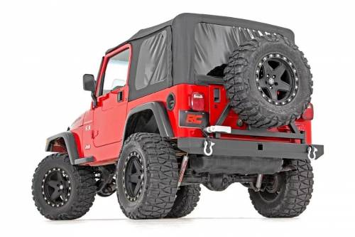 Rough Country Suspension - 10592A | Jeep Classic Full Width Rear Bumper with Tire Carrier