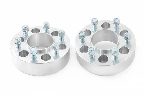 Wheels - Wheel Spacers - Rough Country Suspension - 10087 | Ford 2 Inch Wheel Spacers | 6 X 135 Bolt Pattern