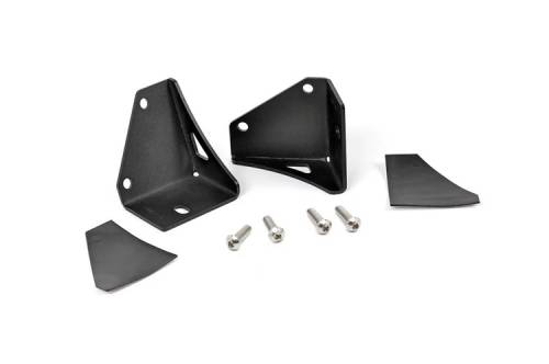 Lighting - Light Mounts / Brackets - Rough Country Suspension - 70510 | Jeep Lower Windshield Light Mounts