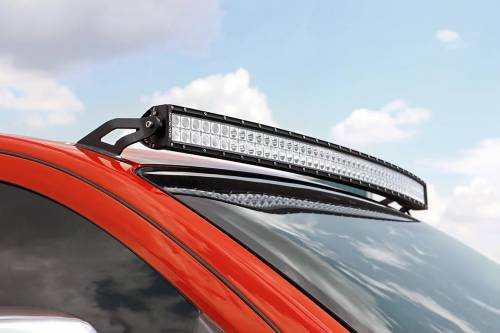 Lighting - Light Mounts / Brackets - Rough Country Suspension - 70512 | 50 Inch Curved LED Light Bar Upper Windshield Mount (Nissan)
