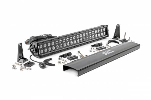 Lighting - Off-Road LED Lights - Rough Country Suspension - 70920BL | 20 Inch Cree LED Light Bar | Dual Row, Black Series