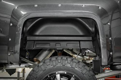 Exterior - Wheel Well Liners - Rough Country Suspension - 4299 | Chevrolet Rear Wheel Well Liners