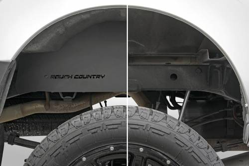 Exterior - Wheel Well Liners - Rough Country Suspension - 4300 | Nissan Rear Wheel Well Liners