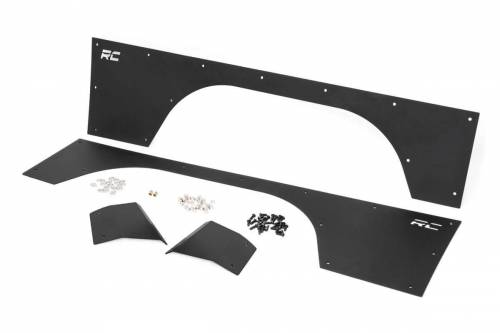 Exterior - Armor / Skid Plates - Rough Country Suspension - 10577 | Jeep Front Upper & Lower Quarter Panel Armor