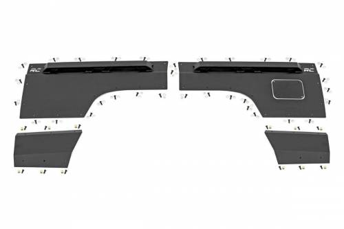 Exterior - Armor / Skid Plates - Rough Country Suspension - 10578 | Jeep Rear Upper & Lower Quarter Panel Armor