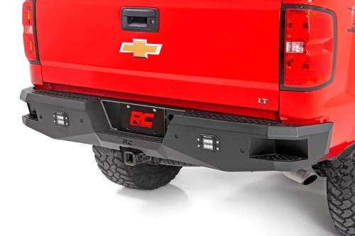 Exterior - Bumpers & Tire Carriers - Rough Country Suspension - 10773 | Chevrolet Heavy Duty LED Rear Bumper