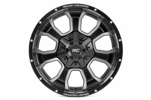 Wheels - Rough Country Wheels - Rough Country Suspension - 93201007 | 20X10 Rough Country One Piece Series 93 Wheel | 5X5