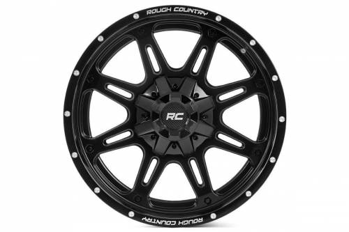 Rough Country Suspension - 94201001 | 20X10 Rough Country One Piece Series 94 Wheel | 6X5.5