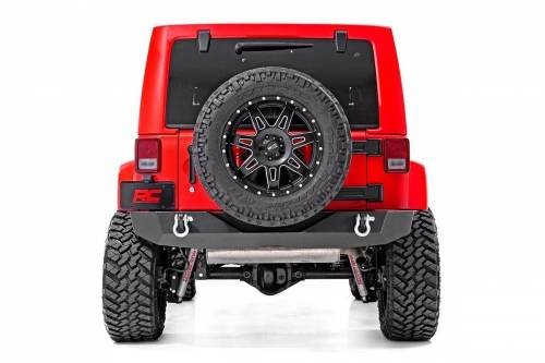 Rough Country Suspension - 10593 | Jeep Rock Crawler Rear HD Bumper