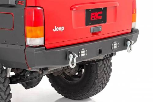 Exterior - Bumpers & Tire Carriers - Rough Country Suspension - 110504 | Jeep Rear LED Bumper