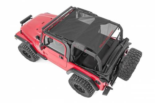Exterior - Relpacement Tops - Rough Country Suspension - 85106 | Jeep TJ, YJ Mesh Bikini Top Plus