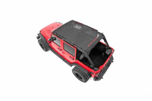 Exterior - Relpacement Tops - Rough Country Suspension - 85110 | Jeep JK Unlimited Mesh Bikini Top Plus