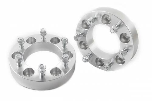 Wheels - Wheel Spacers - Rough Country Suspension - 10086 | GM 1.5 Inch Wheel Spacers | 6 X 5.5 Bolt Pattern