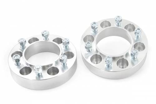 Wheels - Wheel Spacers - Rough Country Suspension - 10089 | Toyota 1.5 Inch Wheel Spacers | 6 X 5.5 Bolt Pattern