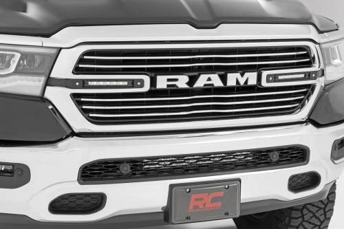 Lighting - Off-Road LED Lights - Rough Country Suspension - 70784 | Ram Dual 6 Inch LED Grille Kit | Chrome Series