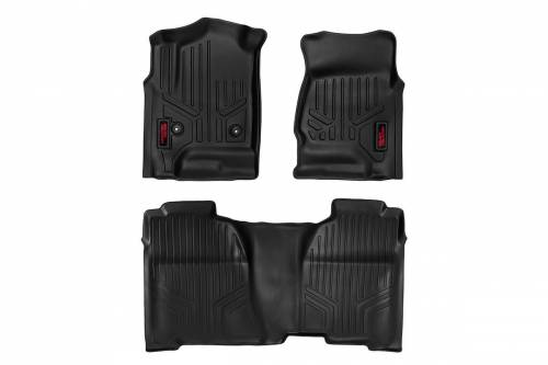 Interior - Floor Mats & Cargo Liners - Rough Country Suspension - M-21513 | Heavy Duty Front & Rear Floor Mats