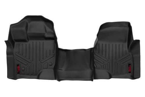 Interior - Floor Mats & Cargo Liners - Rough Country Suspension - M-5115 | Heavy Duty Front Floor Mats | Bench Seats