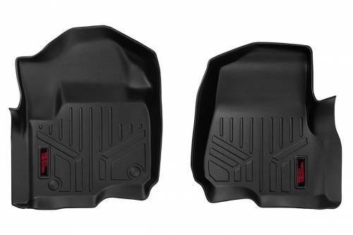 Interior - Floor Mats & Cargo Liners - Rough Country Suspension - M-5171 | Heavy Duty Front Floor Mats | Bucket Seats