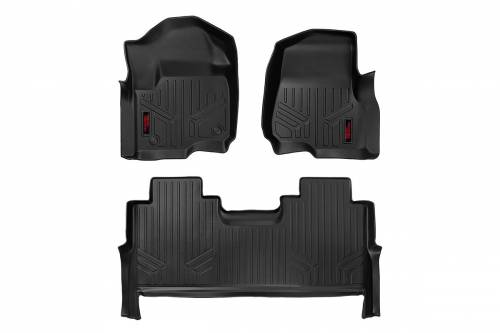 Interior - Floor Mats & Cargo Liners - Rough Country Suspension - M-51712 | Heavy Duty Front & Rear Floor Mats | Bucket Seats