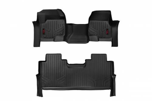 Interior - Floor Mats & Cargo Liners - Rough Country Suspension - M-51173 | Heavy Duty Front & Rear Floor Mats | Bench Seats